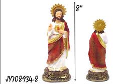 "Sagrado Corazon De Jesus 8""  Statue JY708934-8"
