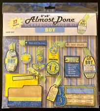 "~NEW~ Scrapbooking 8"" x 8"" Almost Done Page Kit ~BOY~"