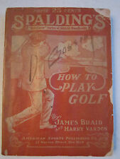 1916 SPALDING HOW TO PLAY GOLF MANUAL - SPALDING'S ATHLETIC LIBRARY - TUB G
