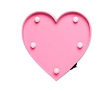 "Pink Heart LED Light Lamp - 4"" L x 4.5"" - B/O - FREE SHIPPING"