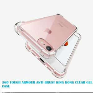 360°King Kong Heavy Duty CLEAR TPU Protector Back Cover For i phone X