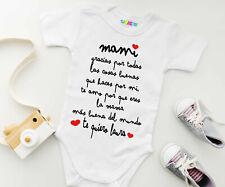 Body bebé Gracias Mama ideal para el día de la madre