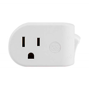 GE Grounded Outlet Power Switch, On Off Outlet Switch, 3 Prong, Plug in Switch,