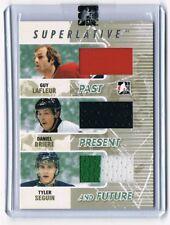 2009-10 ITG Superlative Triple Jersey Guy Lafleur Daniel Briere Tyler Seguin 4/9