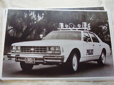 1977 CHEVROLET IMPALA POLICE CAR  11 X 17  PHOTO   PICTURE