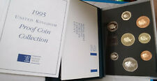 1995 Great Britain 8 Coin Deluxe Proof Set w/Dove Of Peace £2 Commemorative Uk