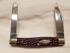 Vintage 1974 Case XX 6275SP 2 Blade Pocket Knife Bone Jigged, Unused