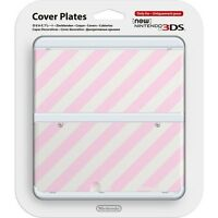 New Nintendo 3DS Cover Plates No.014 - Pink Stripes - Kisekae Face Plate