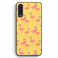 Flamingo Tropical Muster Rosa Samsung Galaxy A50 Silikon Hülle Motiv Design T...