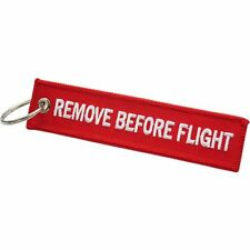 AIRSOFT Keychain - remove before flight - (double side) llavero 13X3 cm