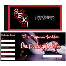 Let's F * CK! XXX COUPON LIBRO cattivo sesso per adulti coupon voucher Romantico Regalo XXX
