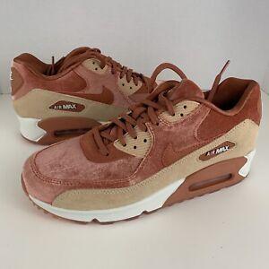 Nike Air Max 90 LX Dusty Peach Velvet Women's  898512-201