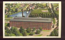 Linen Postcarde Mill No 6 Pacolet Manufacturing Co Gainesville GA A7255