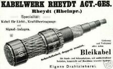 Cavo di Rheydt AG Histor. azione 1925 Nexans Mönchengladbach AEG Alcatel Alstom