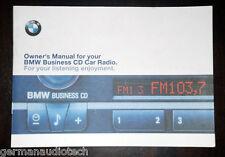 BMW E46 BUSINESS CD CD53 RADIO STEREO 1999 - 2006 - ORIGINAL OWNER'S MANUAL BOOK