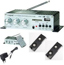 MOBIL MINI MP3-PLAYER MIT RADIO AMPLIFIER REMOTE MIT LINEIN USB SD-CARD BOXEN MM