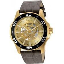Invicta Specialty 17262 Men's Mechanical Gold Tone Analog Taupe Leather Watch