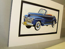1942 Ford Coupe  from Artist Auto Museum Full color Illustrated not photo