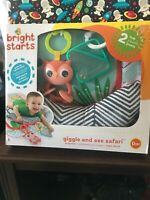 Bright Starts Giggle and See Safari Baby Prop Pillow - Mat 0M+ Tummy Time Fun!