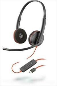 Plantronics Blackwire 3220 USB-C Headset - Black