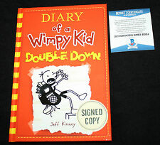Jeff Kinney signed Diary of a Wimpy Kid Double Down, Beckett BAS B05854