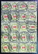SWITZERLAND Postage Due 100c Block of 20 Cat £250 As Described Fine/Used NC1459