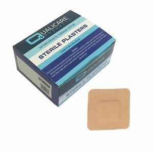 Qualicare Sterile Hypo-Allergenic Fabric Square 3.8cmx3.8cm Plasters 100 Pack