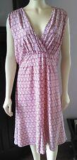 PRETTY Summer Dress Old Navy Sz XL Sleeveless Jersey Knit Red/White-Empire Waist