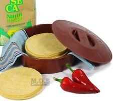 """Tortilla Warmer 9"""" Microwave Safe Tortilla Keeper w/ Lid Flat Bread,pita,flour"""