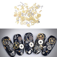 1X100pcs Metal Gear Stud Sheet Mixed Steampunk Nail Art Decoration SC