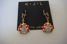 Kenneth Jay Lane Ladybug Drop Earrings New