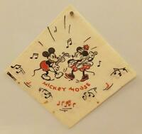 MICKEY MOUSE PAPER PARTY NAPKIN #1 Disney 1930s MINNIE MOUSE Banjo DENNISON Vtg