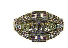 "Heidi Daus ""Diamond Deco"" Swarovski Cuff Bracelet M/L"