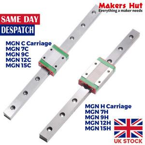 Linear Guide MGN C / H Block 7mm/9mm/12mm/15mm Miniature Rail Sliding