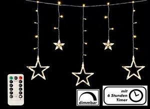 Sternenvorhang 138 LED mit Auto Timer + Fernbedienung - Stern Lichterkette Außen