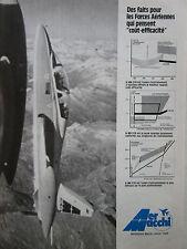 6/1979 PUB AERMACCHI AVION MB-339 MILITARY JET TRAINER ORIGINAL FRENCH AD