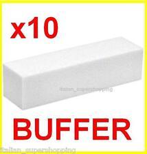 KIT 10 BUFFER X RICOSTRUZIONE UNGHIE UV NAIL ART GEL LIME MANICURE SMALTO LIME