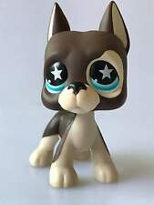Hasbro Littlest Pet Shop Collection LPS Toy Brown Great Dane Dog Star Eyes