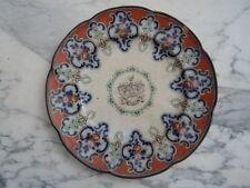 Assiette faïence décor Armoirie devise Faire mon devoire Blason d'époque 19ème