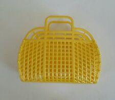 "NEW Vintage Retro Pearl YELLOW 9"" (1980's) JELLY Plastic Purse/Handbag (US Made)"