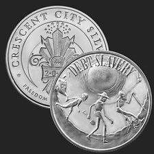 2016 Debt Slavery 1 oz .999 Silver BU Round USA Made AG-47 Bullion Coin