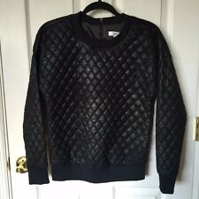MILLY Quilted Bomber Pullover Sweatshirt Top Sz P/XS $400