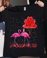 Flamingo Valentine 2021 T-Shirt For Woman