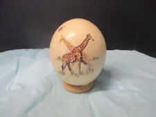LARGE PAINTED OSTRICH EGG - #156
