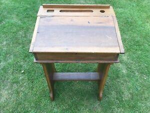 Vintage Child's Old School Desk