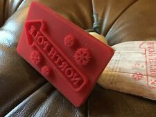 """Birkmann """"NORTH POLE"""" Wood & Silicone Rectangle Cookie Baking Press Stamp! NEW!"""