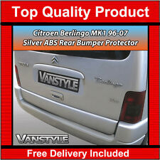 CITROEN BERLINGO 96-07 REAR BUMPER PROTECTOR TOUGH ABS SILVER STOPS DAMAGE VAN