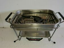 Vintage Farberware Open Hearth Indoor Electric Grill Only Tested USA