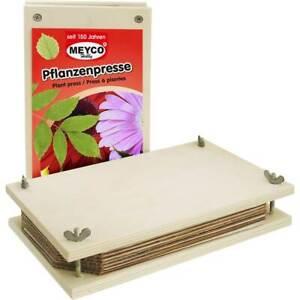 Pflanzen- und Blumenpresse ★ 25 x 14 cm ★ Holz natur ★ mit Einlagen