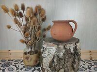Vintage Handmade Terracotta Pottery Amphora Vase Jar jug Storage Planter.